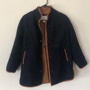 Women's navy Sherpa jacket